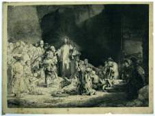 AFTER REMBRANDT ETCHING BY A DURAND – CHRIST