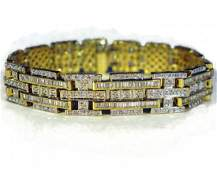 18K YELLOW GOLD & DIAMOND BRACELET 6.06CARATS
