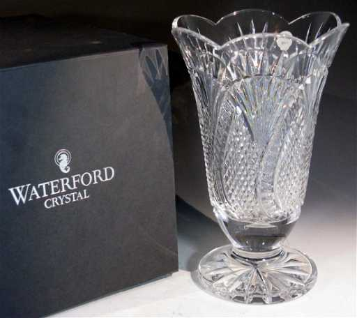 Waterford Crystal Seahorse Vase Signed Gerard Treacy