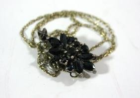 VICTORIAN SAPPHIRE AND STERLING SILVER NECKLACE