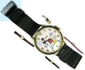 4 @ MICKEY MOUSE DISNEY WRIST & WALL WATCHES