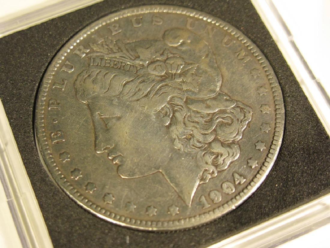 1904 MORGAN SILVER DOLLAR COIN