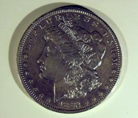 1882-O MORGAN SILVER DOLLAR COIN