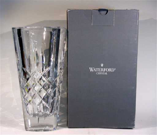 Waterford Crystal Mia Square Vase 11h