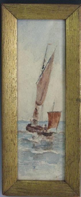 J. H. NASH ENGLISH MARITIME SEASCAPE PAINTING