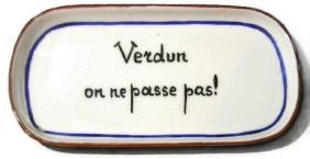 WW1 VERDUN COMMEMORATIVE PORCELAIN PIN TRAY