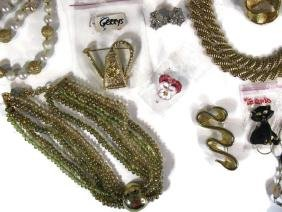 DEALER'S LOT OF VINTAGE LABELED COSTUME JEWELRY