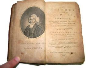 BOOK 1794 EZRA STILES HISTORY OF THE JUDGES