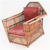 Vintage Art Deco Bamboo Club Chair