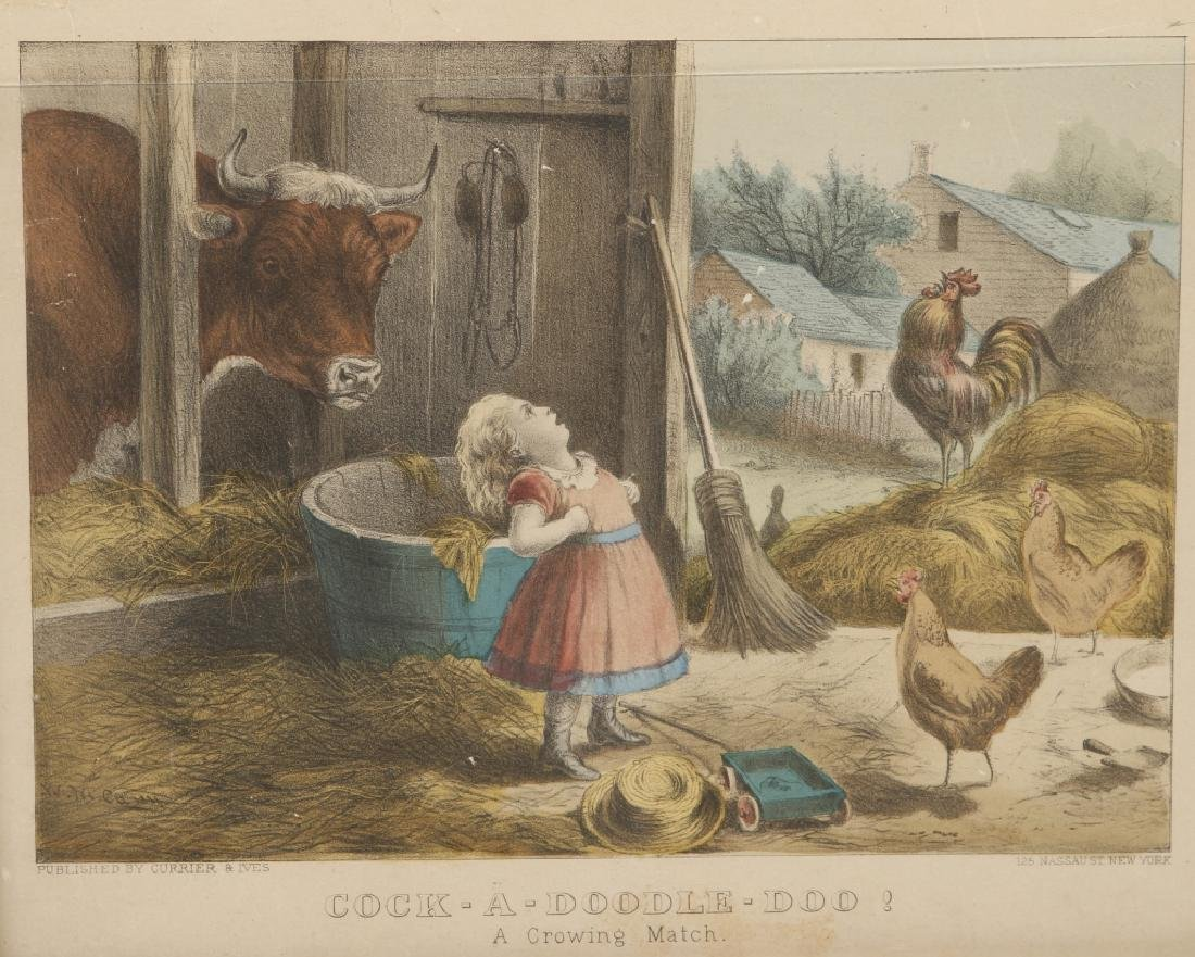 Uncommon Currier & Ives Hand Colored Print