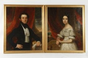 Very Fine Pair of American School Portraits