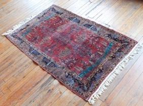 Antique Persian Silk Carpet