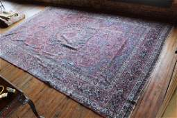 Very Large Vintage Persian Kerman Carpet