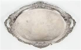 Very Fine Reed & Barton Sterling Serving Platter