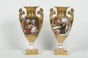 Good Pair Neoclassical Porcelain Urns