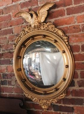 Federal Style Carved Giltwood Bullseye Mirror