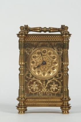 Good Antique French Brass Carriage Clock