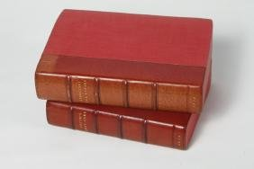 Two Antique Leather Bound Volumes