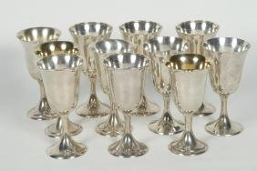 Collection American Sterling Silver Wine Cups
