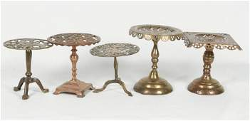 Collection Antique British Kettle Stands