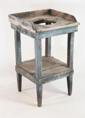 Primitive Painted Yellow Pine Washstand