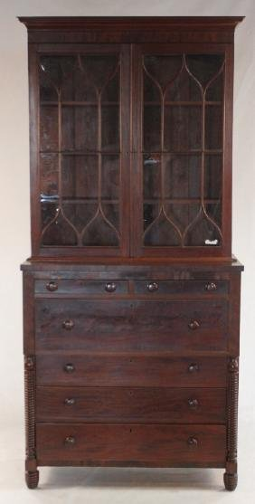 Southern Federal Mahogany Secretary Book Case