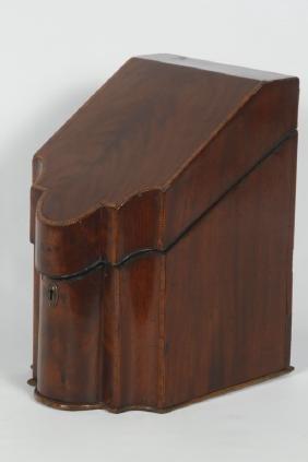 Georgian Inlaid Mahogany Letter Box