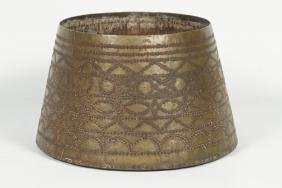 Interesting Antique Folk Art Nail-Decorated Vessel