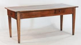 French Provincial Fruitwood Harvest Table