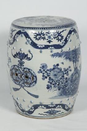 Very Fine Antique Chinese Porcelain Garden Seat