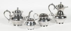 Old Sheffield Plate Edwardian Tea & Coffee Service