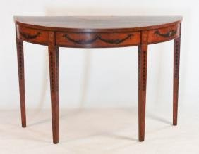 Adams Style Inlaid & Painted Pier Table