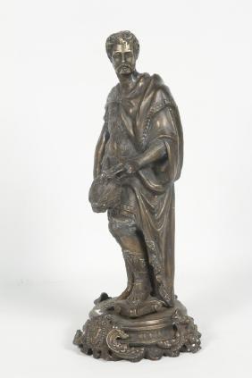 Continental School Bronze Figure of Roman Warrior