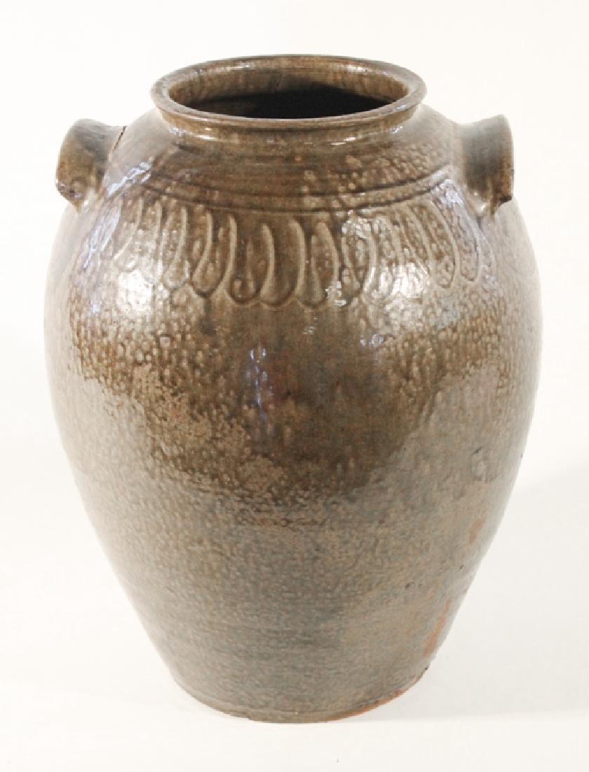 Southern Signed & Decorated Stoneware Storage Jar
