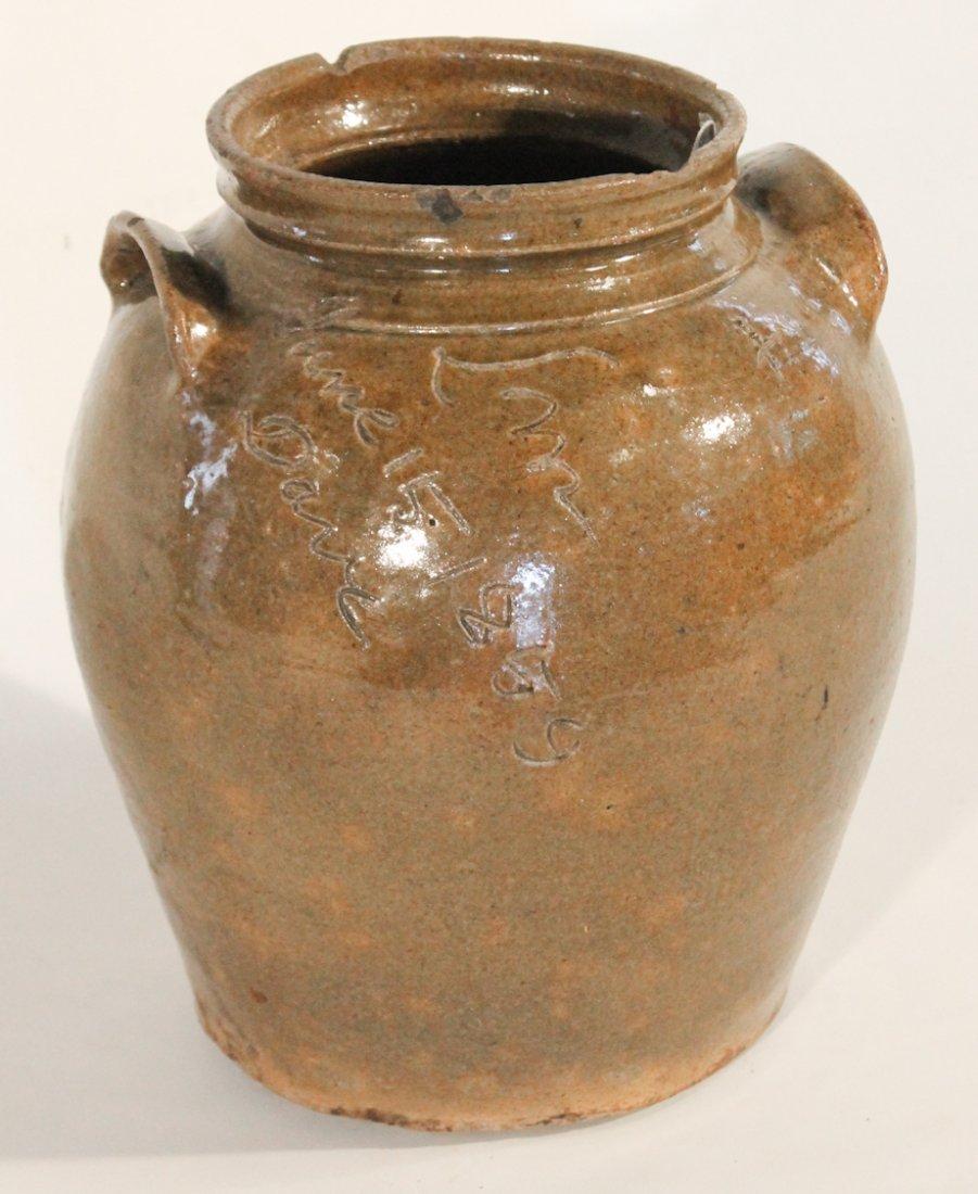 Very Fine Southern Stoneware Signed Storage Jar