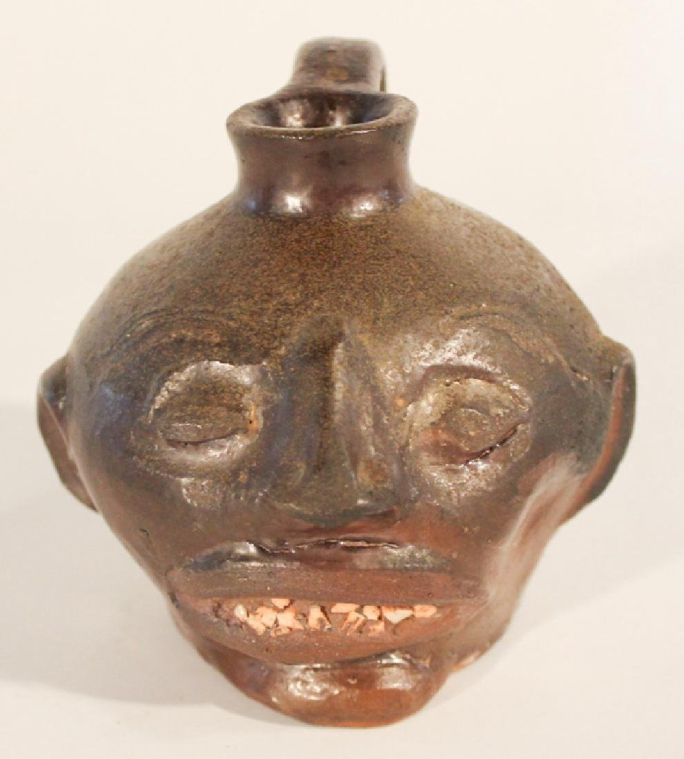 Uncommon Southern Stoneware Face Jug