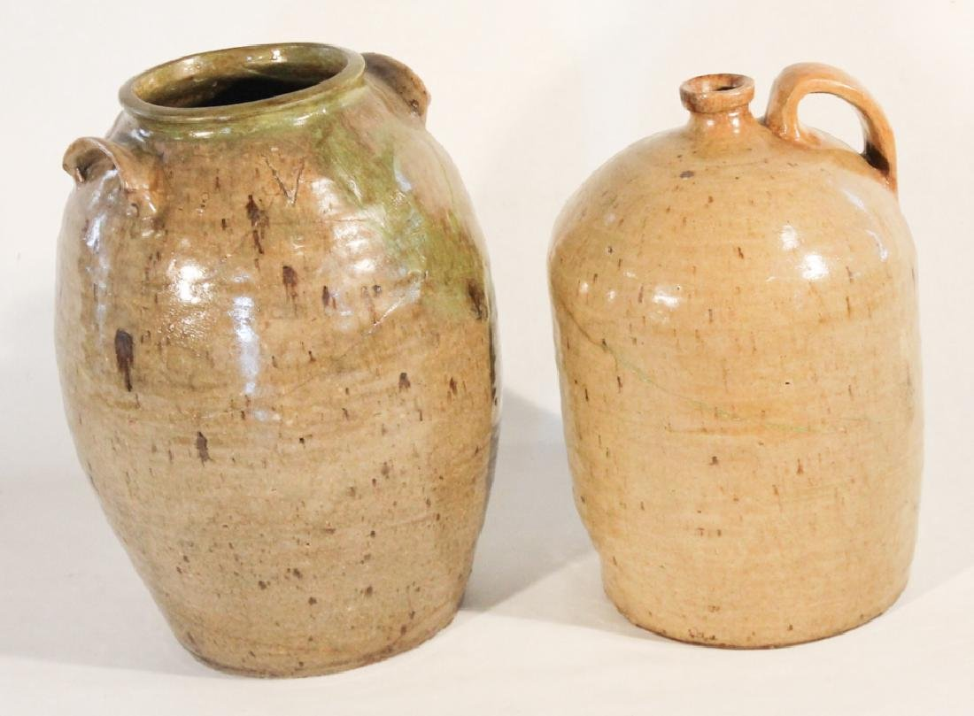 Two Southern Stoneware Vessels