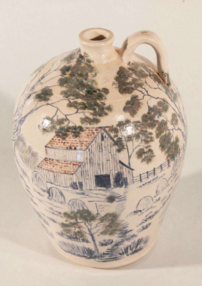 Southern Stoneware Decorated Jug, Bobby Ferguson