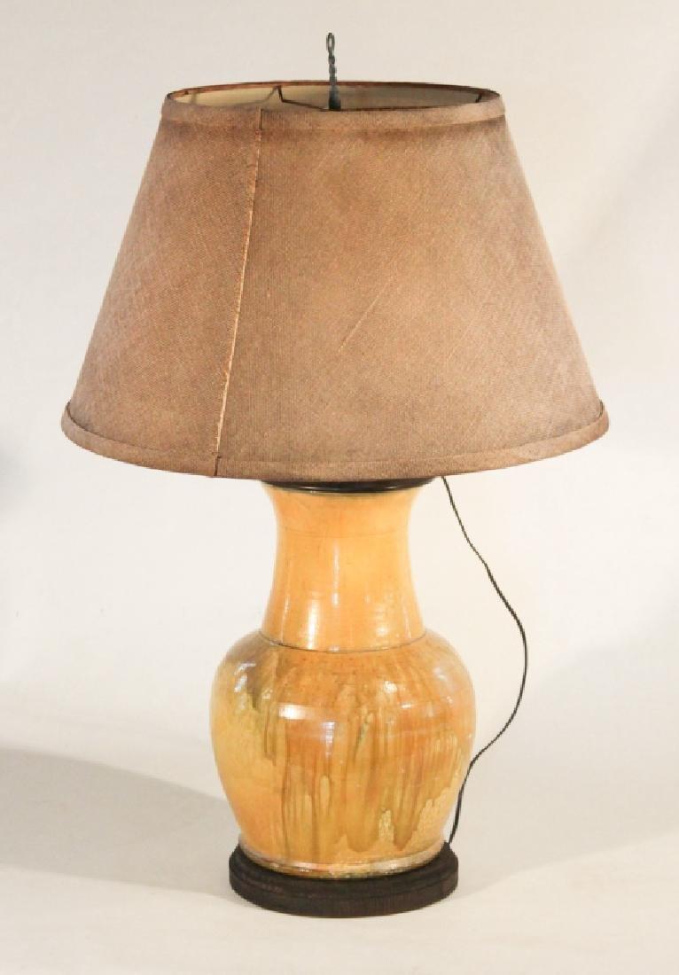 Fine Southern Art Pottery Lamp