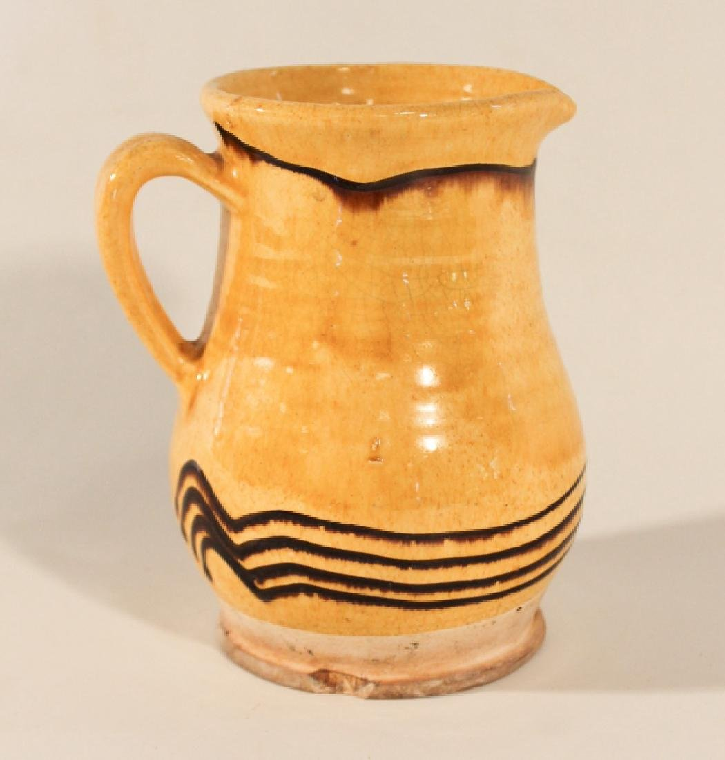 Antique British Earthenware Pottery Pitcher