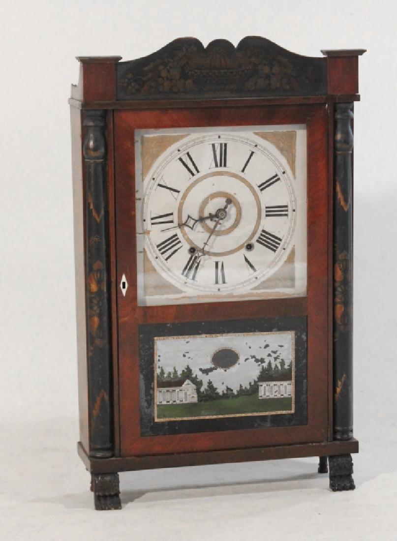 Samuel Terry Stencil Decorated Mantel Clock