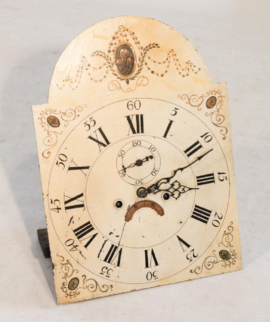 Early Tall Case Clock Movement & Dial