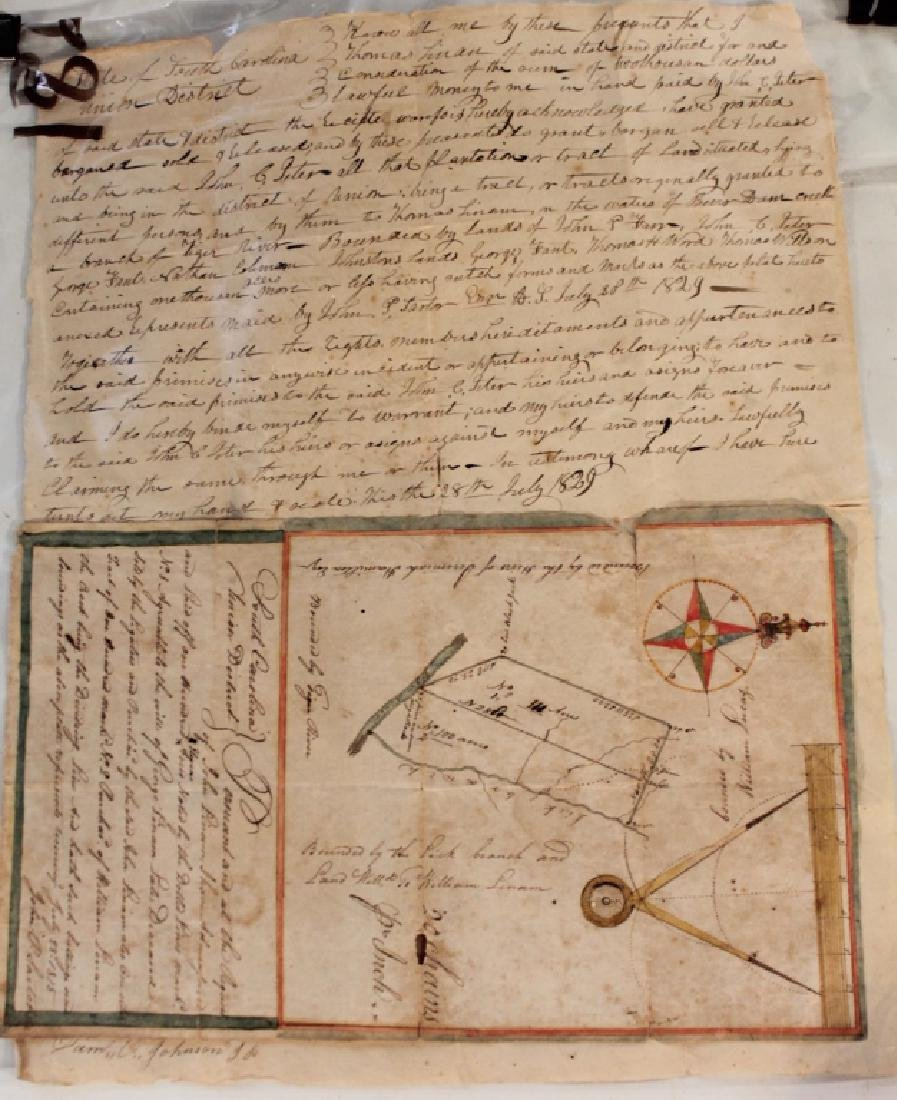 1815 South Carolina Land Survey & 1829 Deed