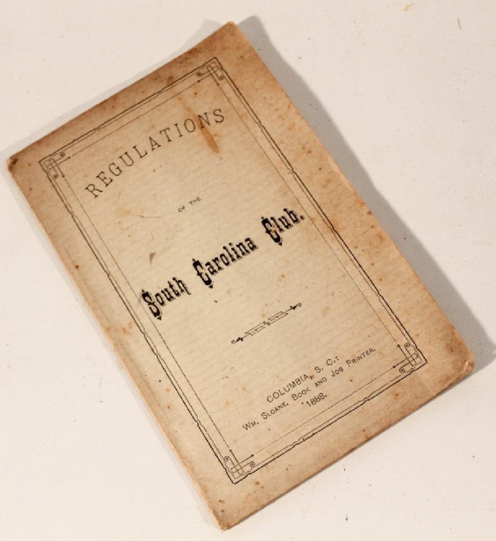 Rare Antique South Carolina Booklet