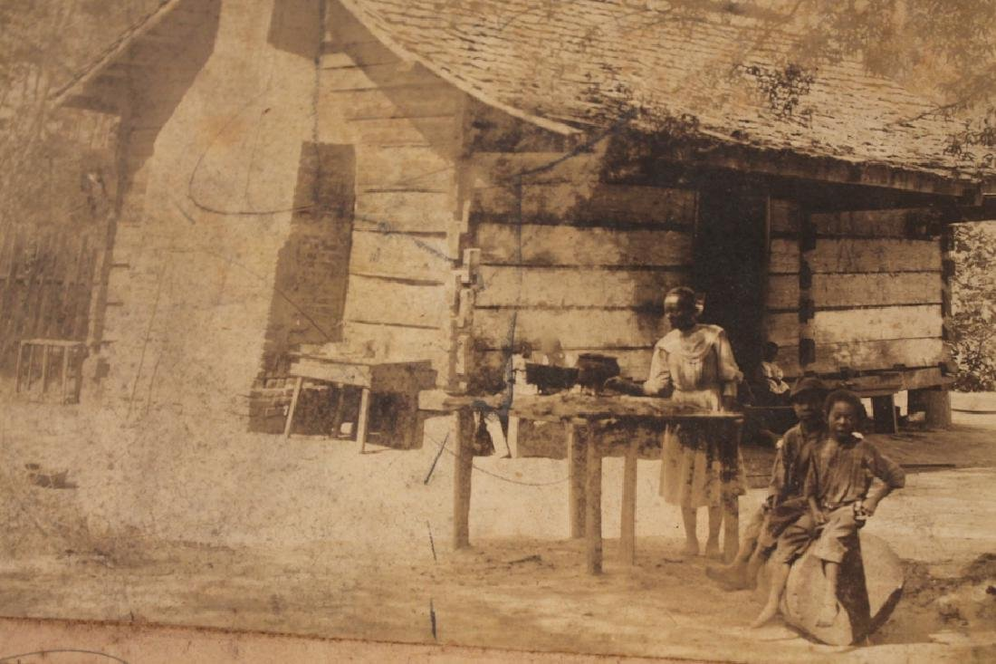 Antique Southern Photograph African American Cabin