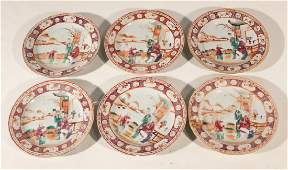 Set Antique Chinese Export Porcelain Dishes