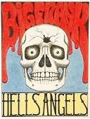 Hand Made Hells Angels Birthday Card for Big Frank