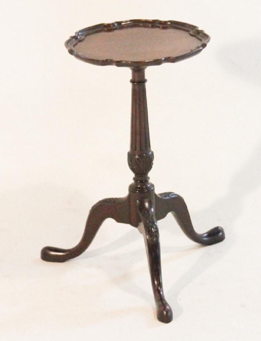 Chippendale Style Carved Mahogany Kettle Stand