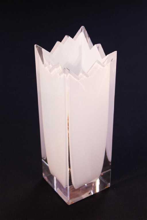 Art Deco Swedish Crystal Vase By Orrefors