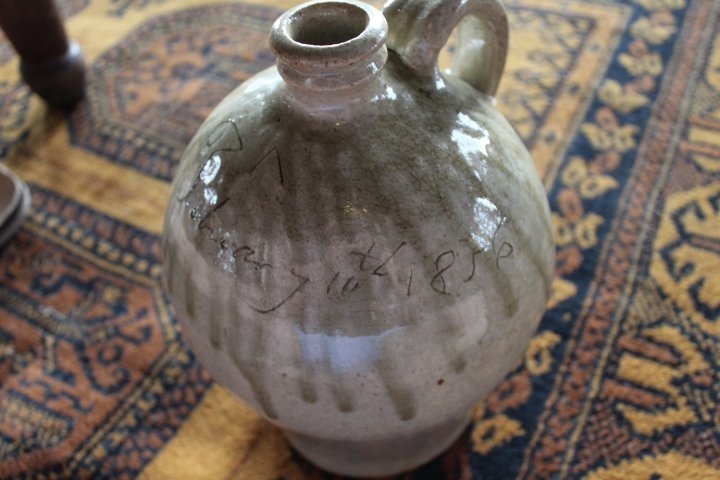 Exceptional Early Dated Southern Stoneware Jug - 10